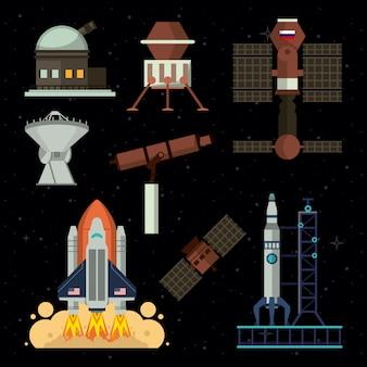 우주선 및 기술 요소