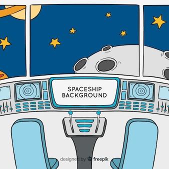 宇宙船の背景