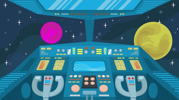 Spaceship cockpit  - interior scenes