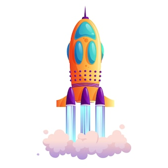Spaceship launch rocketship takeoff rocket trace