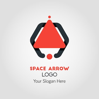 Spaceship-like upside arrow logo template