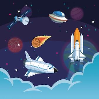 Spaceship in the milkyway galaxy