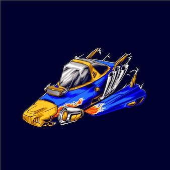 Космический корабль гонщик иллюстрация
