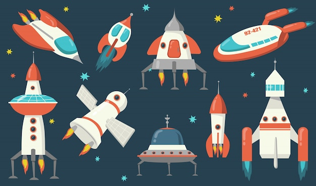 Spaceships and rockets set