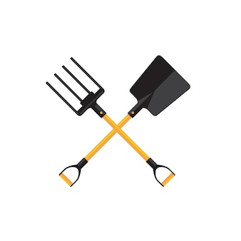 Spade and pitchfork vector