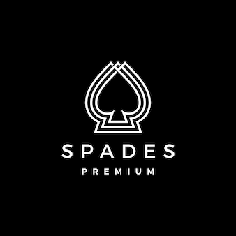 Spades logo  icon illustration