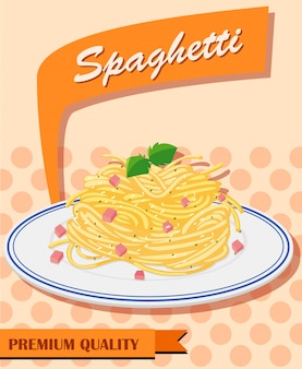 Spaghetti menu on poster