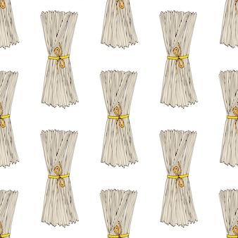 Spaghetti seamless pattern
