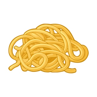 Spaghetti. vector color illustration isolated on white background. hand drawn design element