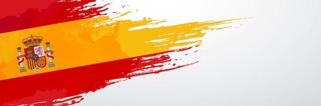 Spain banner brush