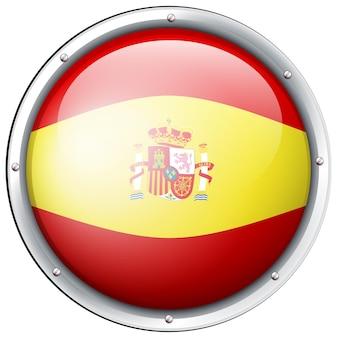 丸いボタンのスペイン国旗