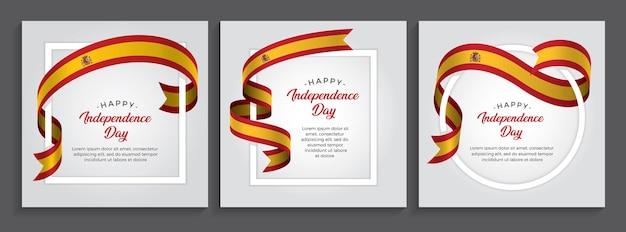 スペイン幸せな独立記念日の旗、イラスト