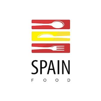 スペインレストランのロゴのテンプレート