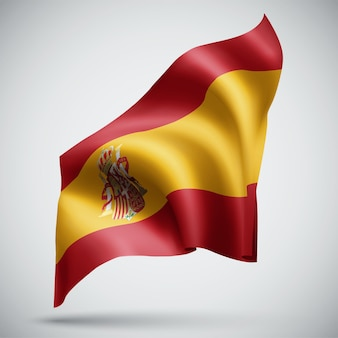 Spain, vector 3d flag isolated on white background
