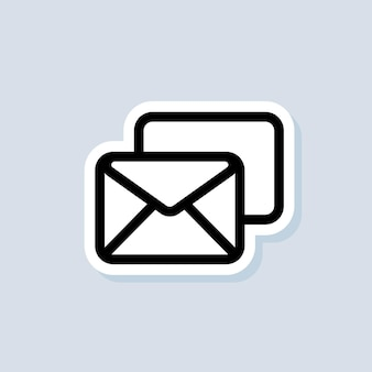Spam sticker. newsletter logo. envelope. email and messaging icons. email marketing campaign. vector on isolated background. eps 10.