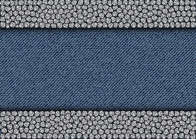 Spangle stripes on denim