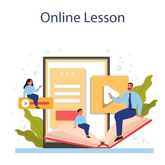 Spanish learning online service or platform set
