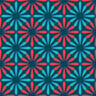 Spanish ornamental ceramic tile seamless pattern