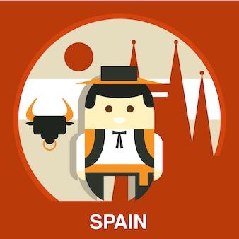 Испанский традиционный человек иллюстрация