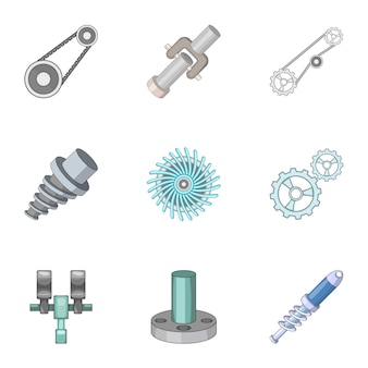 Spare parts for machine tools set