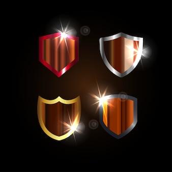 Spark shield graphic design template