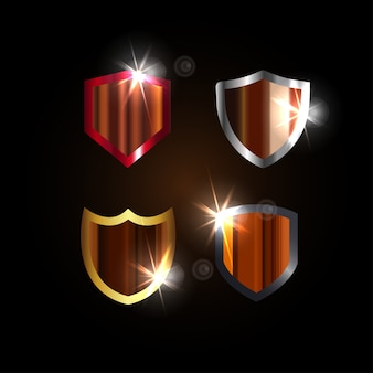 Шаблон графического дизайна spark shield