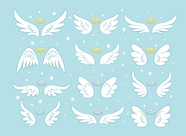 Sparkle angel fairy wings with gold nimbus