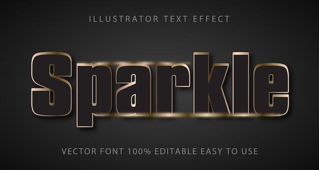 Sparkle редактируемый текстовый эффект