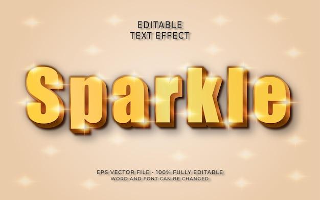 Блестящий редактируемый текстовый эффект