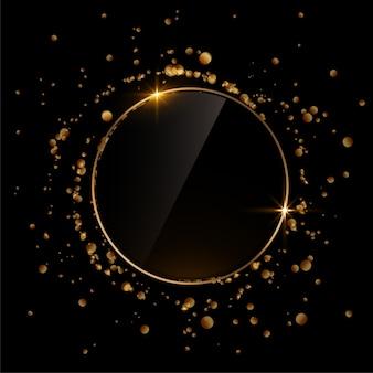 Sparkle glitter frame burst background