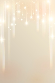 Sparkle stars pattern on gold background