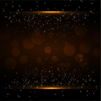 Sparkles and bokeh background with text space