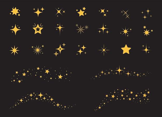 黒の背景に輝く星