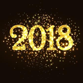 Sparkling 2018 over black background