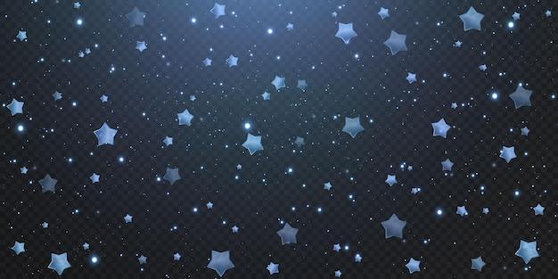 きらめく青い星。