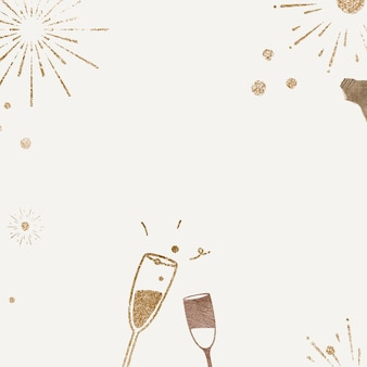 Sparkling champagne background vector new year celebration