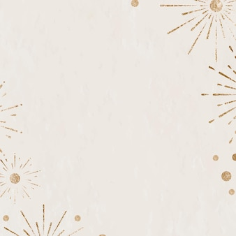 Celebrazione di capodanno scintillante sfondo beige fuochi d'artificio