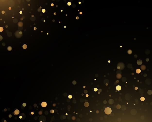 Sparkling golden magic star comet