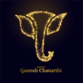 Ganesh mahotsav를위한 번쩍이는 주 코끼리 그림
