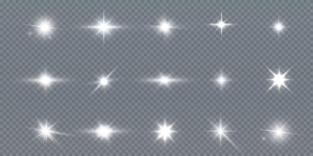 分離された輝く魔法のほこりのイラスト