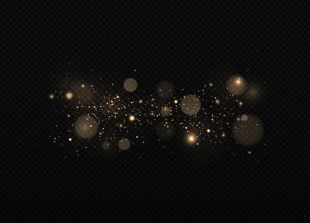 きらめく魔法のほこり粒子ボケ効果黄砂