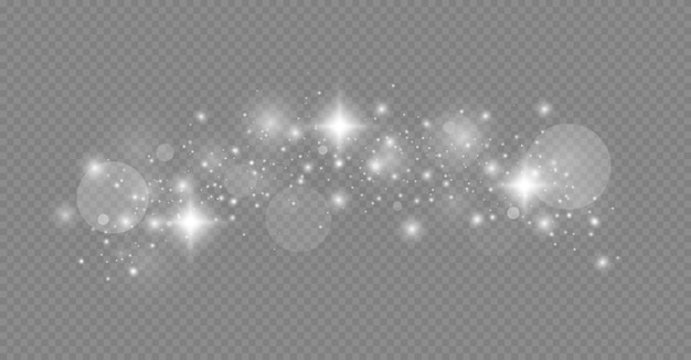 きらめく魔法のほこりの粒子。グローライト効果