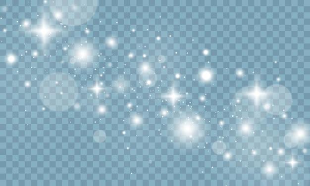 투명에 반짝이는 마법의 먼지 입자