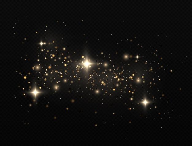 Sparkling magic dust particles