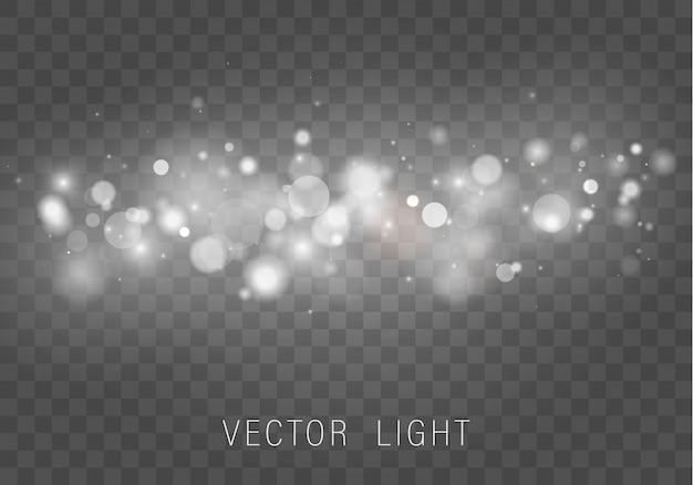 Сверкающие магические частицы пыли. абстрактный фон с эффектом боке