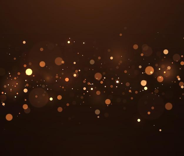 반짝이는 마법의 먼지 입자 추상 마법의 보케 조명 효과 배경