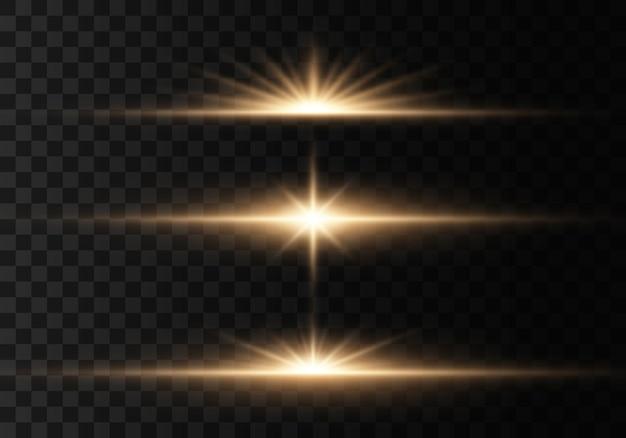 きらめく魔法のほこりの粒子。輝く星
