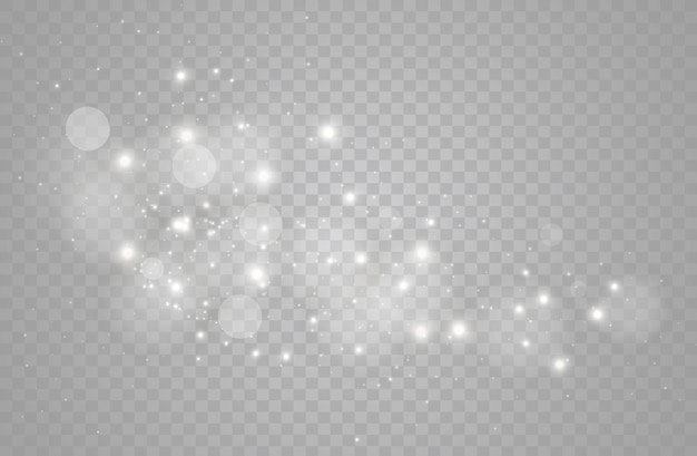 きらめく魔法のほこりの粒子