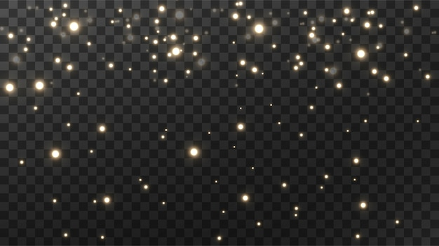 Sparkling magical dust textural black background.