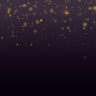 きらめく魔法の金粉粒子明るい光グローボケ背景キラキラ粒子ベクトル